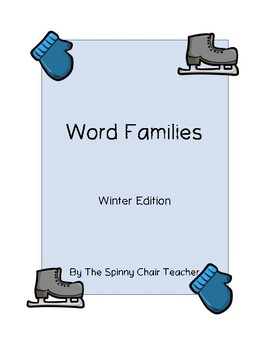 Word Families Winter Edition