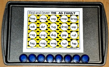 Word Families: Word Families Find and Cover Activities