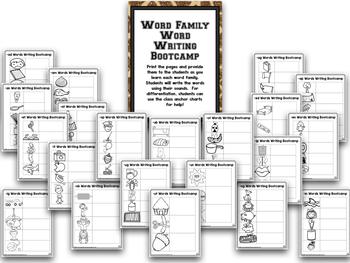 Word Families!  Word Family Bootcamp:  SAFARI THEME!
