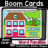 Word Families Word Match - Boom Cards - Digital Distance Learning