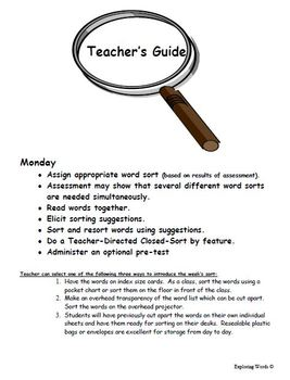 Word Families Word Sort Bundle (Level K-2) - Exploring Words