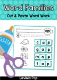 CVC Word Families Word Work No Prep Cut & Paste Worksheets
