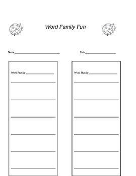 Word Families Work Station