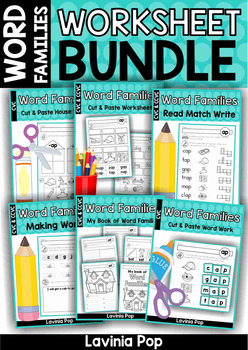 Word Families Worksheet BUNDLE SAMPLER
