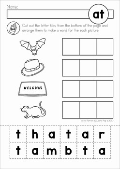 Word Families Worksheet BUNDLE SAMPLER