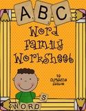 Word Families Worksheet/Activity