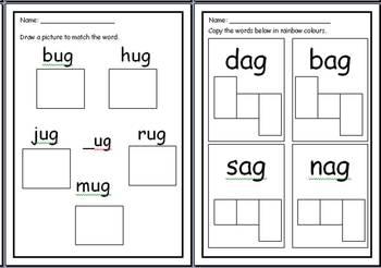 Word Families Worksheets