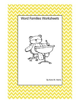 20 Word Families Worksheets + 3 bonus worksheets!