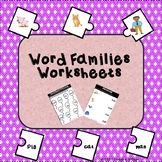 Word Families Worksheets