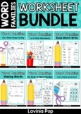 Word Families Worksheet BUNDLE