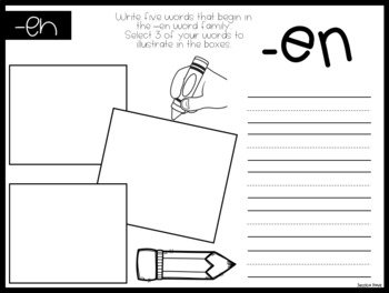 Word Families * Write & Draw