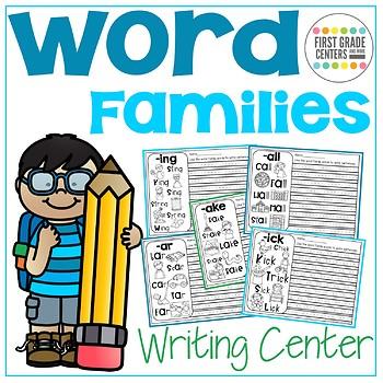 Word Families Writing Center No Prep