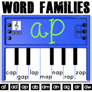 Word Families Activities: Pianos (A)
