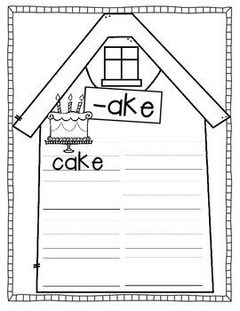 Word Families (a booklet to make)