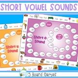 Short Vowel Sounds Board Games