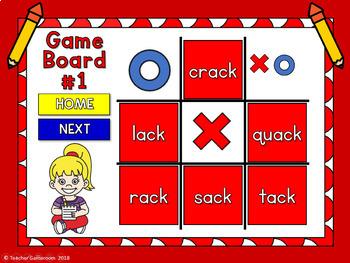 Word Families -ack Words Tic-Tac-Toe Powerpoint Game Freebie
