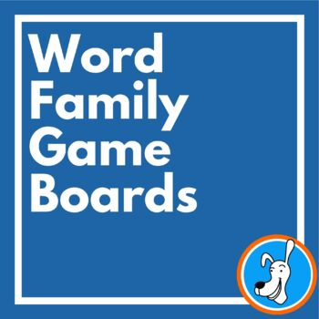 Word Families:  Word Family Game Boards for Short Vowels (ack, est, in, op, ug)