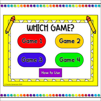 Word Families -all Words Tic-Tac-Toe Powerpoint Game