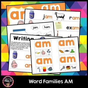 Word Families Activities AM