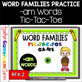 Word Families -am Words Tic-Tac-Toe Powerpoint Game