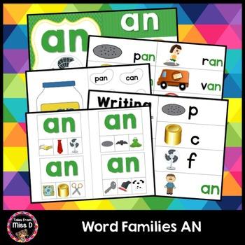 Word Families Activities AN