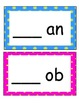 Word Families /-an/ and /-ob/...Building Words Center and