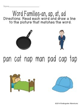 Word Families-an, ap, at, ad