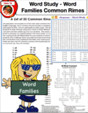 Word Families and Common Rimes Language PDF 162 Pages No Prep