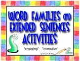 Word Families and Extended Sentences Activities