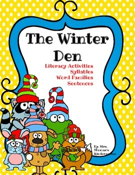 Word Families and Literacy Bundle - Winter