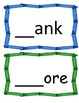Word Families /-ank/ and /-ore/...Building Words Center and Word Work