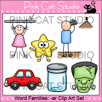 Rhyming Words: -ar Rime Word Family Clip Art Set - Personal or Commercial Use
