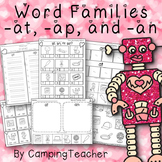 Word Families at, an, and ap Valentine's Day Theme