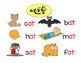 """Word Families """"at"""" and """"an"""" Primary Literacy Centers"""