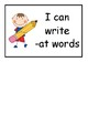 Word Families -at, -ap, -an