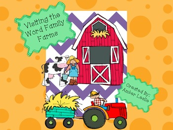 Word Families at the Farm-Kindergarten and First Grade Word Work