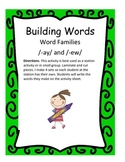 Word Families /-ay/ and /-ew/...Building Words Center and