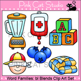 Word Families: bl Blends Clip Art - Personal or Commercial Use