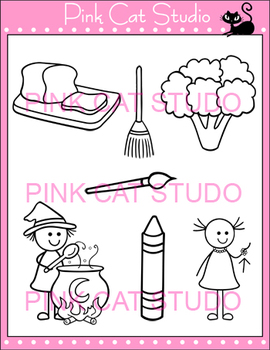 Word Families: br Blends Clip Art - Personal or Commercial Use