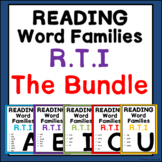 Phonics Word Family reading Intervention:The Bundle- Great for RTI and IEP goals