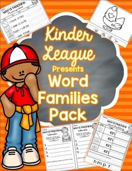 Word Families Pack by Kinder League