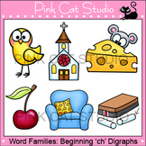 Word Families: ch- Digraphs Clip Art - Personal or Commercial Use