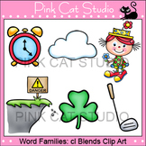 Word Families: cl Blends Clip Art - Personal or Commercial Use