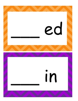 Word Families /-ed/ and /-in/...Building Words Center and Word Work
