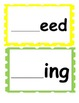 Word Families /-eed/ and /-ing/...Building Words Center and Word Work
