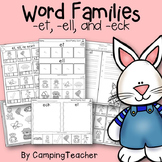 Word Families et, ell, and eck Easter Theme