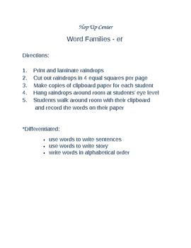 Word Families et