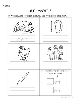 Short e Word Families - et en