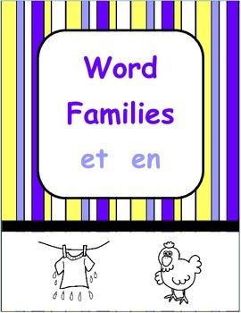 Short e Word Families - et en