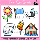 Word Families: fl Blends Clip Art - Personal or Commercial Use